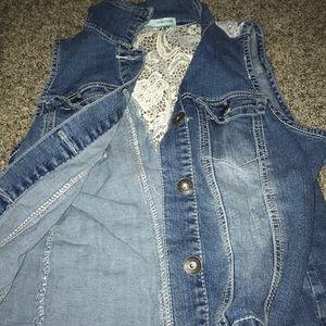 Denim vest jacket
